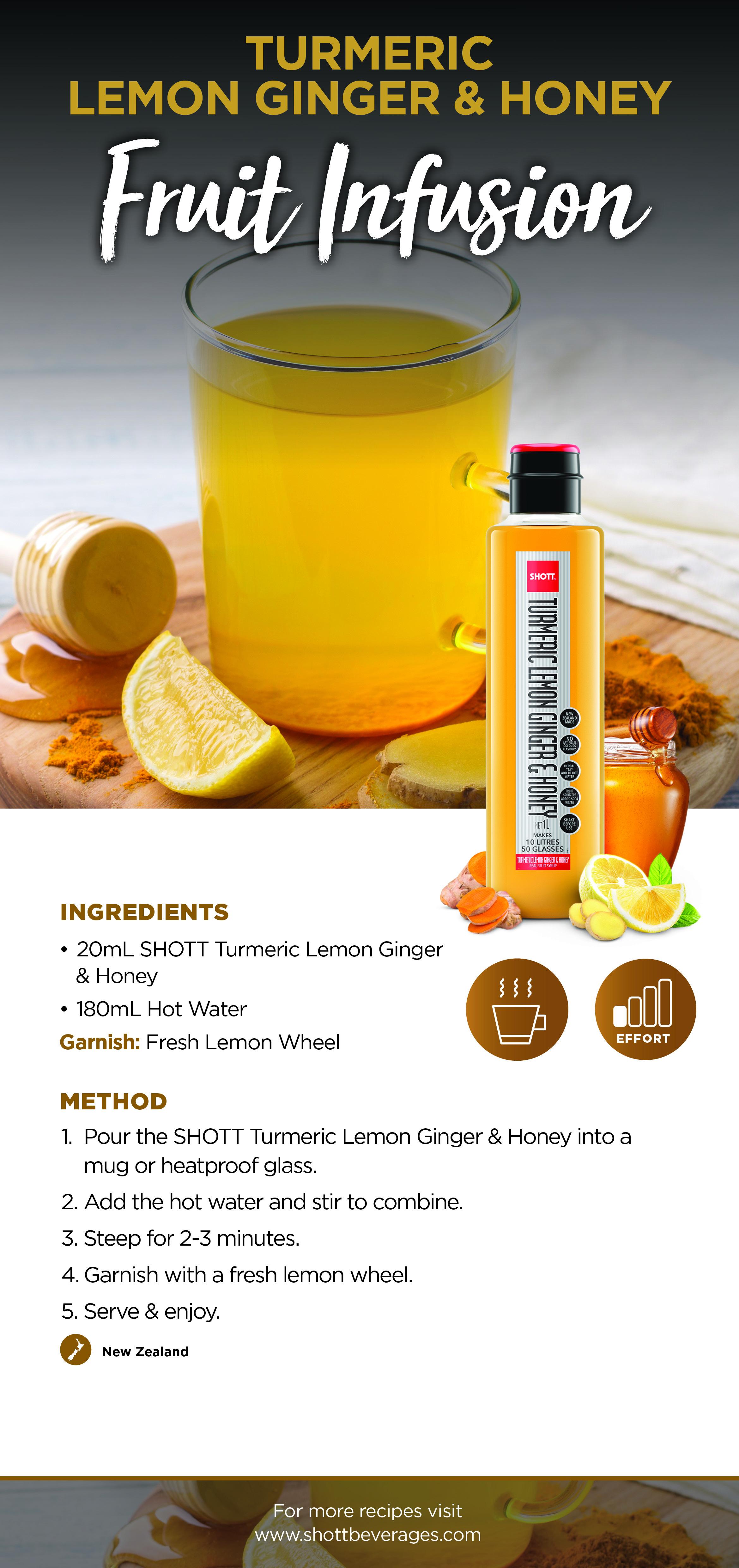 Turmeric Lemon Ginger & Honey Fruit Infusion