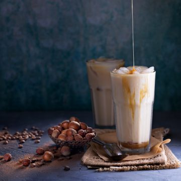 Hazelnut Iced Latte