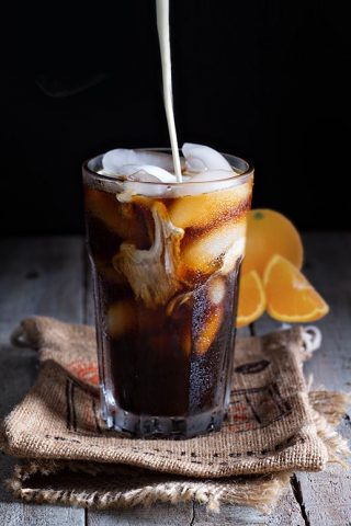 Flamed Orange Iced Coffee