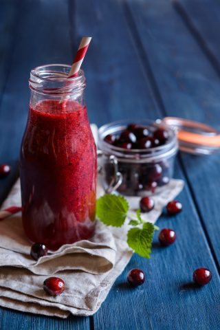 Cranberry Avocado Smoothie