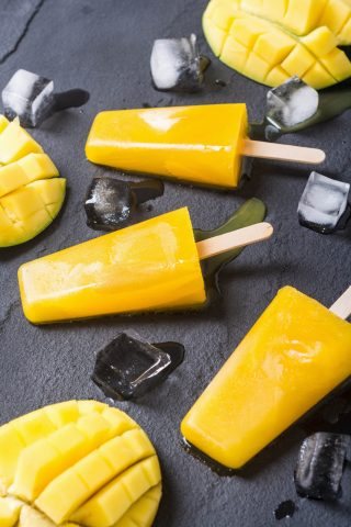 Mango & Orange Ice Blocks
