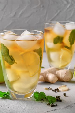 Iced Lime & Mint Tea
