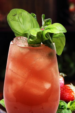 Strawberry & Basil Shrub