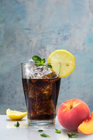 Cold Brew Peach Soda