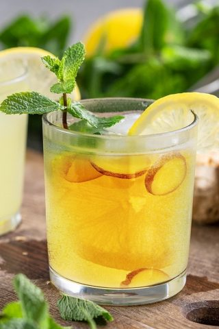 Lemon Ginger Honey Cider