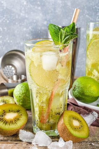 Gold Kiwi Turmeric Ginger Soda