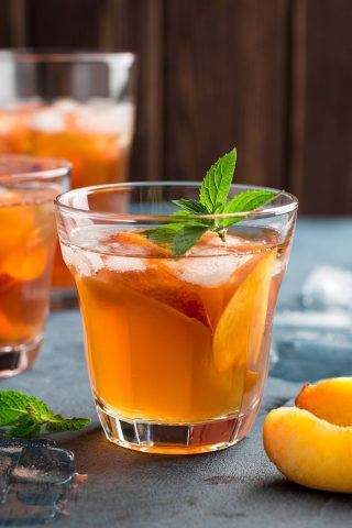 Black Tea Peach Iced Tea