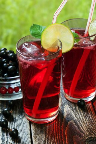 Blackcurrant Honey Iced Tea
