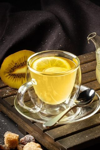 Gold Kiwi Turmeric Hot Toddy