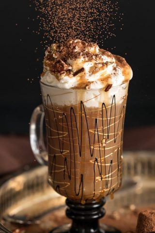Salted Caramel Iced Chocolate